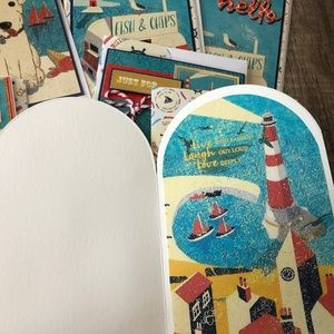 Party Supplies - Handmade Seaside Variety Pack ( Total 7 Cards)